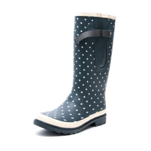 Grey Polka Wellies By The Wide Welly Company