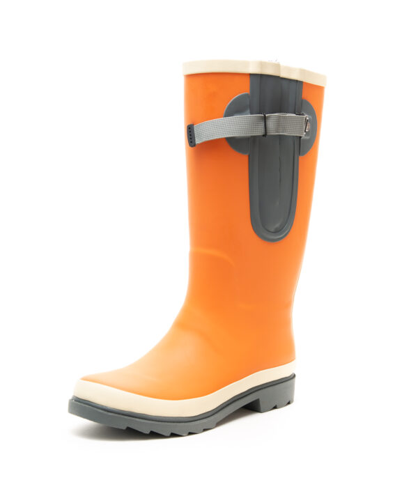 Orange Wellies By The Wide Welly Company