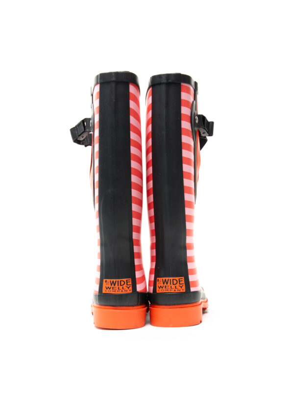 Red Stripe Wellies Back Double