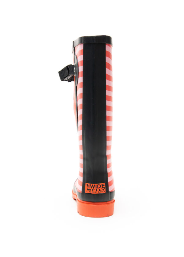 Red Stripe Wellies Back Single