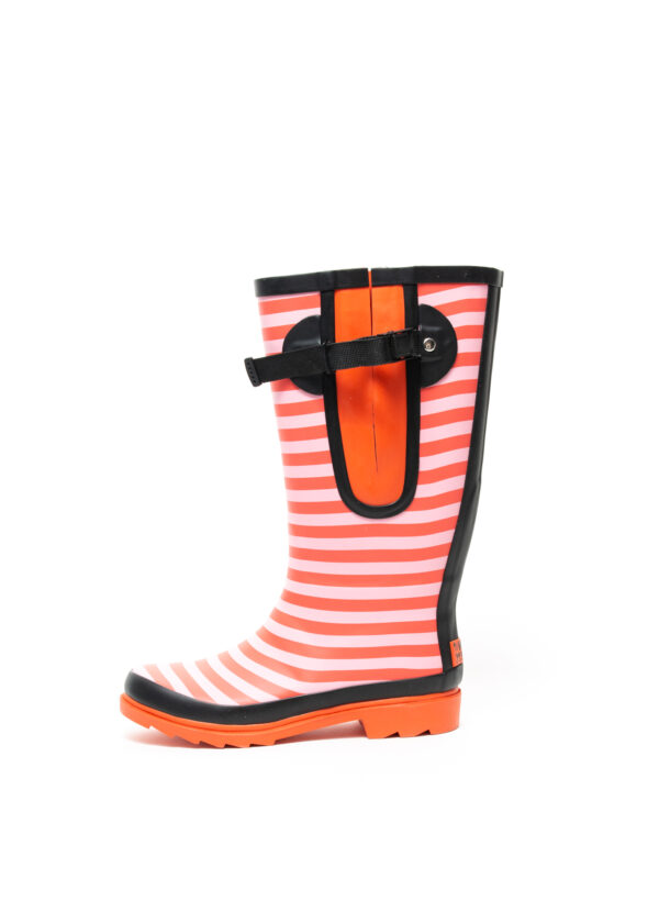 Red Stripe Wellies Side View